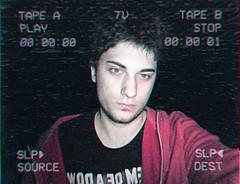 PORTRAIT/SELFIE VHS (PeachySick11) Tags: vhs vintage tv lofi portrait selfie retrato noise night noche tape retro fucking hot boy sadboy edgy
