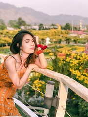 portrait (ChalidaTour) Tags: thailand thai asia asian girl femme fils chica nina portrait flowers yellow sweet cute beautiful pretty slender slim elegant happyplanet asiafavorites