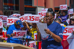 Trina Cobbs CTA Customer Service Assistant Fight for 15 Rally Chicago Illinois 8-22-19_2311 (www.cemillerphotography.com) Tags: poverty minimumwage costofliving money inequality workers labor fastfood corporations profits surplusvalue