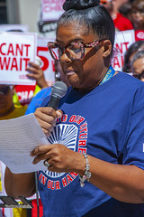 Trina Cobbs CTA Customer Service Assistant Fight for 15 Rally Chicago Illinois 8-22-19_2310 (www.cemillerphotography.com) Tags: poverty minimumwage costofliving money inequality workers labor fastfood corporations profits surplusvalue