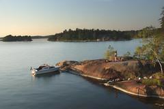 Swedish archipelago (Håkan Jylhä (Thanks for +1000000 views)) Tags: håkan jylhä sverige sweden archipelago skärgård solnedgång kväll evening sunset båt boat nice semester