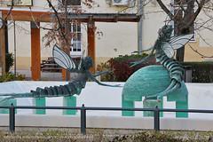 Mayfly statues (srkirad) Tags: travel szolnok hungary statue monument art mayfly mayflies park