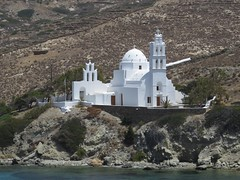 ios (gerben more) Tags: ios church building white dome greece water