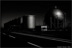 Storage Tanks and Gas Holder... (SHADOWY HEAVEN) Tags: 16082490a0940 北海道 hokkaido 日本 ファインダー越しの私の世界 写真好きな人と繋がりたい 写真撮ってる人と繋がりたい 写真の奏でる私の世界 写真で伝えたい私の世界 coregraphy japan tokyocameraclub igers igersjp phosjapan picsjp モノクロ モノクローム モノクロ写真 白黒写真 bnwlife bnwdemand igersbnw noirshots monochrome mono monotone blackandwhite bw bnw blackwhite noiretblanc japaninbw blackwhitephotos bwartaward dark gasholder storagetanks storage tank
