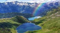 Tom e Ritóm (Luc1659) Tags: laghi alpi svizzera landscape green blue acqua riposo silenzio tranquillità lake due arcobaleno panorama estate clouds rifugio