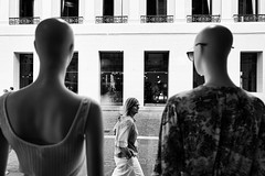 and if the mannequins were watching us from a shop window? (Massimiliano.R) Tags: blackandwhite blackandwhitephotography bw monocromo monochrome streetphotography street streetlife travel nature landscape
