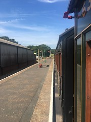 At the Isle of Wight Steam Railway, Havenstreet Station (IoW_Sparky) Tags: iphone iow isleofwight haven street havenstreet steam railway england wight station platform train steamshow carriage sky clouds angleterre chemindefer vapeur gare quai wagon ciel nuages