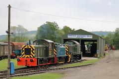 D2284 + PWM654 + D9525 (1) (ANDY'S UK TRANSPORT PAGE) Tags: trains rowsley peakrail