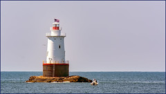 Sakonnet Point (Timothy Valentine) Tags: lighthouse clichésaturday gull 0819 fbpost large sky boat 2019 littlecompton rhodeisland unitedstatesofamerica