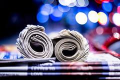 Yesterdays News (Sean Batten) Tags: london england unitedkingdom waterloo newspaper bokeh nikon df 50mm paper city urban night nighttime