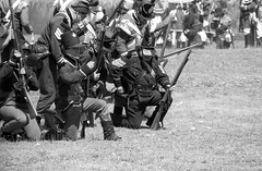 That's a Rifleman! (Alex Luyckx) Tags: penetanguishene ontario canada discoveryharbour georgianbay museum history canadianhistory livinghistory militaryhistory warof1812 1812 battleoflakehuron 1814 reenactment reenactors crownforces americanforces war warreenactment tactical grandtactical1812 seizethebay nikon f5 nikonf5 slr 35mm 135 tameronaf100300mm1563 cinestill cinestillbwxx kodak eastman eastmandoublex5222 doublex 5222 asa200 cinestilld96 kodakd96 d96 stock 10 adobephotoshopcc bw blackwhite film filmphotography believeinfilm filmisalive filmisnotdead