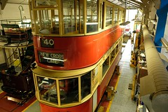 London Passenger Transport Board No. 1622 Class E/1 tram built in 1912 (Kentishman) Tags: derbyshire crich 1912 dscf1009 fujifilmxt2 classe1tram londonpassengertransportboard no1622 lptb nationaltramwaymuseum village tramway 180550mmf2840