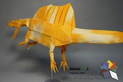 Spinosaurus (Rydos) Tags: paper origami art hanji koreanpaper korean paperfold fold folding paperfolding designed design model papermodel korea origamilst dinosaur origamipro5 origamipro horseshoecrab horseshoe crab deinonychus smilodon carnotaurus spinosaurus terror bird terrorbird dunkleosteus mammoth quetzlcoatlus triceratops paraceratherium therizinosaurus han ji woo jang yong ik jeong jea il kim jin lee in seop meang hyeong kyu park jong yoo tea hanjiwoo jangyongik jeongjeail kimjinwoo leeinseop meanghyeongkyu parkjongwoo yooteayong washi