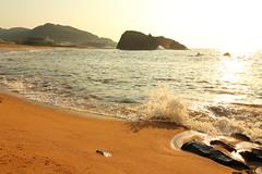 Sunset beach (Teruhide Tomori) Tags: landscape rock beach sea seashore coast tateiwa kyoto tango japan 丹後半島 立岩 日本 海岸 風景 shore 京都 japon taiza 間人 tangopeninsula 京丹後 丹後町