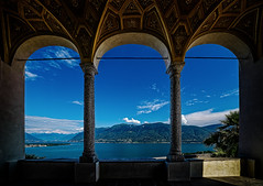 Lago Maggiore - Switzerland (Patrik S.) Tags: sony a7m3 a7iii photoshop on1 lake lago maggiore view landscape switerland ticino souterhn blue church nature daylight water sky clouds shadow outside white light new summer see wasser hiimmel wolken tageslicht natur kirche kapelle landschaft schweiz draussen weiss blau neu europa europe