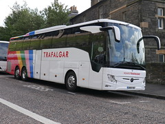 Fairline Coaches Mercedes Benz Tourismo M3 BV19YHO 11904, with Trafalgar tours vinyls, at Johnston Terrace, Edinburgh, on 19 August 2019. (Robin Dickson 1) Tags: trafalgartours westcoastmotors fairlinecoaches craigofcampbeltown busesedinburgh mercedesbenztourismom3 bv19yho