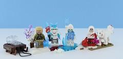 Fantasy minifigs #10 : Icy lands people (Alex THELEGOFAN) Tags: lego legography minifigure minifigures minifig minifigurine minifigs minifigurines fantasy wolf ice cold freeze icebreaker samurai warrior knight land figbarf