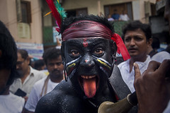 THE PERFORMER (Arunabha Kundu) Tags: ngc people portrait face facepaint colors expression performance festival culture tradition street travel