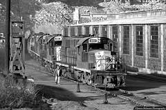 Coal Hoppers from Provo (jamesbelmont) Tags: railroad railway train locomotive utahrailway martinturn helper utah alco rsd15 rsd12 coal hopper engineshop crew hardscrabbleroad