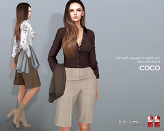 COCO New Release @Uber (cocoro Lemon) Tags: coco uber shirt sweater shorts mesh secondlife fashion maitreya belleza slink