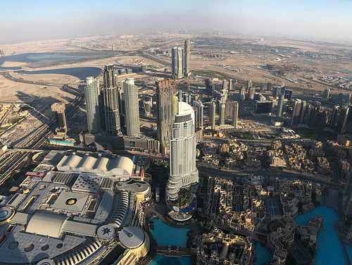 Building into the desert, a view from the Burj Khalifa