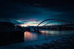 Pont Schuman (Stéphane Sélo Photographies) Tags: canon1740f4 canon6dmarkii france lyon pontschuman rhône saône vaise bridge city cityscape coucherdesoleil filé landscape lumière nightlight sunset urban urbanlandscape ville