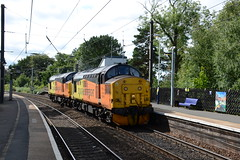 37219 & 37116 at Morpeth (stephen.lewins (1,000 000 UP !)) Tags: colas class37 37116 37219 tractors ecml morpeth northumberland railways