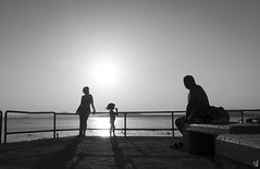Summer stories II (tzevang.com) Tags: shilouette sun sunset bythesea beach summer greece athens riviera kid woman shadow
