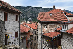 Kotor Rooftops (Jocelyn777) Tags: buildings architecture rooftops laundry streets landscape cityscape mountains kotor montenegro balkans travel stone stonehouses