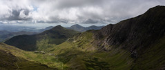 standing on the skys edge (Phil-Gregory) Tags: snowden2019 clouds countryside cloudscape colour rocks cliff sky green scenicsnotjustlandscapes sigma18250macro sigma wales snowdonia snowdon watkinpath