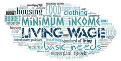 Living Wage (Ben Taylor55) Tags: living wage minimum income basic needs food housing essential clothing standard federal poverty guidelines annual level budget cost inflation fulltime workers money quality life tag tags tagcloud word words wordcloud