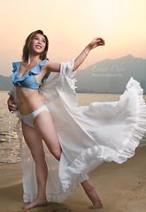 Erina (johnnywkyip) Tags: light sunset portrait girl beautiful beauty lady swim dance pretty dancing wear hong kong bikini portraiture swimsuit ware landscape nikon g2 tamron 2470 z7
