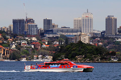 Captain Cook Catamaran, Sydney Harbour, September 20th 2016 (Southsea_Matt) Tags: sealink captaincookcruises catamaran sydneyharbour sydney newsouthwales australia september 2016 spring canon 80d passengertravel publictransport sea harbour wharf ferry boat ship vessel