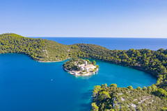 St. Mary Island in Mljet National Park in Croatia