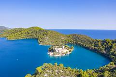 Sankt Maria Insel im Nationalpark Mljet, Kroatien