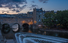 Great time for a Bath (music_man800) Tags: bath city town uk united kingdom somerset county river avon view pulteney bridge weir flow water evening dusk sunset afternoon late sun set sundown dark pretty blue purple orange clouds stormy light lighting natural nature wall old historic roman scene scenery urban canon 700d adobe lightroom creative cloud edit photography arty artistic hdr