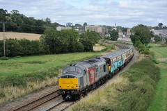 37-884-EMU-314-207-5Q78-Bayston-Hill-23-8-2019 (D1021) Tags: class37 37884 5q78 rog railoperationsgroup scotrail emu class314 314207 baystonhill burgslane shrewsbury shropshire nikond700 d700