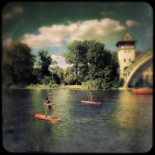 Paddling on the River Spree