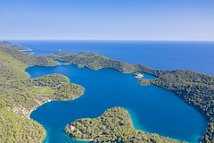 Veliko Jezero lake on Mljet, Croatia