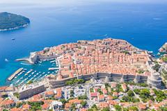 Stadtmauer in der Altstadt von Dubrovnik in Kroatien