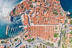 Top-Down-Blick auf die Altstadt von Dubrovnik, Kroatien