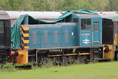 03099 (1) (ANDY'S UK TRANSPORT PAGE) Tags: trains rowsley peakrail class03 brblue