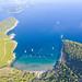 Blick auf den Strand Sunj auf Lopud, Kroatien