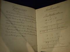 P7241229 (simonrwilkinson) Tags: sudburyhall nationaltrust sudbury derbyshire museumofchildhood schoolbook