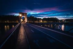 Pont Mazaryk (Stéphane Sélo Photographies) Tags: canon1740f4 canon6dmarkii france lyon pontmazaryk rhône saône bridge city cityscape landscape lumière nightlight passerelle reflet urban urbanlandscape ville