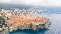 Bad weather in Dubrovnik, Kroatien