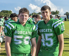 058 (DwightJodon) Tags: photobydwightjodon eunicehighschool kaplanhighschool catholichighnewiberia catholichigh eunice kaplan newiberia football scrimmage bobcatfield ehs bobcats pirates eunicela