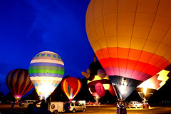 Night Glow (Slideshow Bruce) Tags: balloon hot air night glow albany oregon