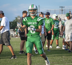 097 (DwightJodon) Tags: photobydwightjodon eunicehighschool kaplanhighschool catholichighnewiberia catholichigh eunice kaplan newiberia football scrimmage bobcatfield ehs bobcats pirates eunicela