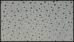 leaky (kestercrosberger) Tags: ceiling dots circles circle hole frame white grey black bnw blackandwhite monotone monochrome pattern sony dsc rx100m2